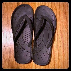 EUC Black CROCS Flip Flops
